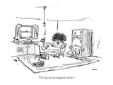 """The dog ate my magnetic insoles."" - New Yorker Cartoon Premium Giclee Print by George Booth"