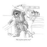 """Not in front of the crew!"" - New Yorker Cartoon Premium Giclee Print by Gahan Wilson"