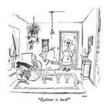 """Eyeliner is back!"" - New Yorker Cartoon Premium Giclee Print by George Booth"