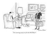 """I'm running away to join the W.N.B.A."" - New Yorker Cartoon Premium Giclee Print by Victoria Roberts"