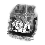 Subway-style straphangers ride on Venetian gondolas. - New Yorker Cartoon Premium Giclee Print by Richard Oldden