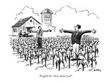 """English lit—how about you"" - New Yorker Cartoon Premium Giclee Print by Mike Twohy"