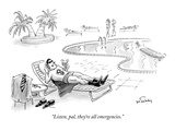"""Listen, pal, they're all emergencies."" - New Yorker Cartoon Premium Giclee Print by Mike Twohy"