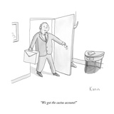 """We got the cactus account!"" - New Yorker Cartoon Premium Giclee Print by Zachary Kanin"