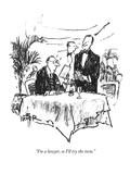 """I'm a lawyer, so I'll try the torte."" - New Yorker Cartoon Premium Giclee Print by Robert Weber"