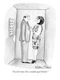 """You look sharp, like a carefully aged Cheddar."" - New Yorker Cartoon Premium Giclee Print by Victoria Roberts"