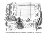 """Thank you, Adrian.  Parenting is a learning process, and your criticisms …"" - New Yorker Cartoon Premium Giclee Print by Robert Weber"