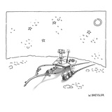 Mars rover holding a wooden divining rod to search for water. - New Yorker Cartoon Premium Giclee Print by Wayne Bressler