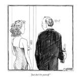 """Just don't be yourself."" - New Yorker Cartoon Reproduction giclée Premium par Matthew Diffee"