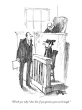 """I'll tell you why I shot him if you promise you won't laugh."" - New Yorker Cartoon Premium Giclee Print by Robert Weber"