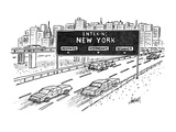 Entering New York: Beginner, Intermediate, Advanced - New Yorker Cartoon Premium Giclee Print by Tom Cheney