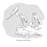"""See if you can hit Florida."" - New Yorker Cartoon Premium Giclee Print by Kim Warp"