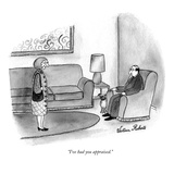"""I've had you appraised."" - New Yorker Cartoon Premium Giclee Print by Victoria Roberts"