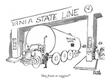 """Any fruits or veggies"" - New Yorker Cartoon Giclee Print by Brian Savage"