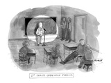 """2nd Period Open-Mike Physics"" - New Yorker Cartoon Premium Giclee Print by Marshall Hopkins"
