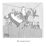 """But enough of levity."" - New Yorker Cartoon Premium Giclee Print by Gahan Wilson"