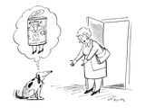 Dog thinks of owner as a can of dog food with legs. - New Yorker Cartoon Premium Giclee Print by Mike Twohy