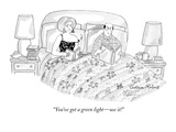 """You've got a green light—use it!"" - New Yorker Cartoon Premium Giclee Print by Victoria Roberts"