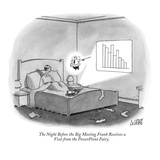 The Night Before the Big Meeting Frank Receives a Visit from the PowerPoin… - New Yorker Cartoon Premium Giclee Print by Glen Le Lievre