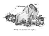 """Actually, we're only taking tissue samples."" - New Yorker Cartoon Premium Giclee Print by J.P. Rini"