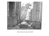 """O.K., O.K., let's take the F.D.R."" - New Yorker Cartoon Premium Giclee Print by Jason Patterson"