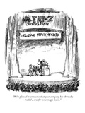 """We're pleased to announce that your company has shrewdly traded a cow for…"" - New Yorker Cartoon Premium Giclee Print by Robert Weber"