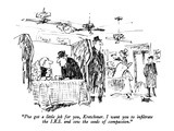 """I've got a little job for you, Kretchmer.  I want you to infiltrate the I…"" - New Yorker Cartoon Premium Giclee Print by Robert Weber"