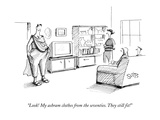 """Look! My ashram clothes from the seventies. They still fit!"" - New Yorker Cartoon Giclee Print by Julia Suits"