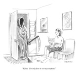 """Relax.  I'm only here to see my osteopath."" - New Yorker Cartoon Premium Giclee Print by Pat Byrnes"