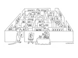 Mice walk through an art gallery maze; a chunk of cheese is in the middle. - New Yorker Cartoon Premium Giclee Print by Wayne Bressler