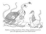 """""""Anyhow, according to the Science 'Times,' things would have turned out qu…"""" - New Yorker Cartoon Giclee Print by Gahan Wilson"""