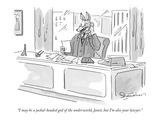 """I may be a jackal-headed god of the underworld, Janet, but I'm also your …"" - New Yorker Cartoon Premium Giclee Print by Danny Shanahan"