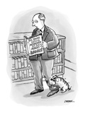 Man reading a book titled 'So, You're Being Attacked By an Angry Badger,' … - New Yorker Cartoon Premium Giclee Print by C. Covert Darbyshire