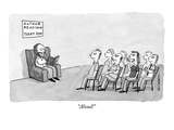 """Aloud!"" - New Yorker Cartoon Regular Giclee Print by Andrew Weldon"