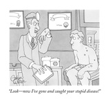 """""""Look—now I've gone and caught your stupid disease!"""" - New Yorker Cartoon Giclee Print by Gahan Wilson"""