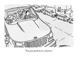 """You just parked on a Saturn."" - New Yorker Cartoon Premium Giclee Print by C. Covert Darbyshire"