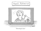 """This detergent sucks."" - New Yorker Cartoon Premium Giclee Print by Kim Warp"