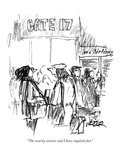 """The security screener said I have exquisite feet."" - New Yorker Cartoon Premium Giclee Print by Robert Weber"