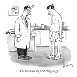 """The knees are the first thing to go."" - New Yorker Cartoon Premium Giclee Print by Mike Twohy"
