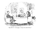 """Yep, that's it—seven pages.  I only write what I know."" - New Yorker Cartoon Premium Giclee Print by Robert Weber"