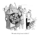 """We made a bit of a mess in Aisle 2."" - New Yorker Cartoon Premium Giclee Print by Julia Suits"