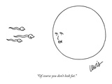 """Of course you don't look fat."" - New Yorker Cartoon Premium Giclee Print by Eric Lewis"