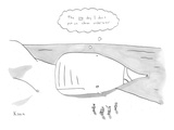 "Beached whale wearing dirty underwear thinking, ""The one day I don't put o…"" - New Yorker Cartoon Premium Giclee Print by Zachary Kanin"
