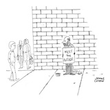 Beggar on the street corner with sign that reads, 'Meet the Author.' - New Yorker Cartoon Premium Giclee Print by Jonny Cohen