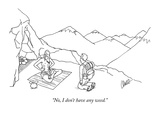 """No, I don't have any weed."" - New Yorker Cartoon Premium Giclee Print by Eric Lewis"
