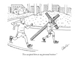 """I've accepted him as my personal trainer."" - New Yorker Cartoon Premium Giclee Print by Eric Lewis"