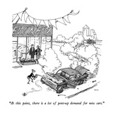 """At this point, there is a lot of pent-up demand for new cars."" - New Yorker Cartoon Premium Giclee Print by George Booth"