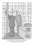 """""""I'll confess, the first time I realized they didn't have any panes it gav…"""" - New Yorker Cartoon Giclee Print by Gahan Wilson"""