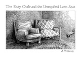 The Easy Chair And The Unrequited Love Seat - New Yorker Cartoon Premium Giclee Print by Ann McCarthy