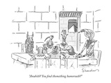 """Anubith You find thomething humorouth"" - New Yorker Cartoon Regular Giclee Print by Danny Shanahan"